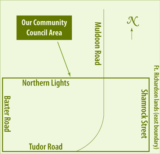 Scenic Foothills Community Council boundaries map